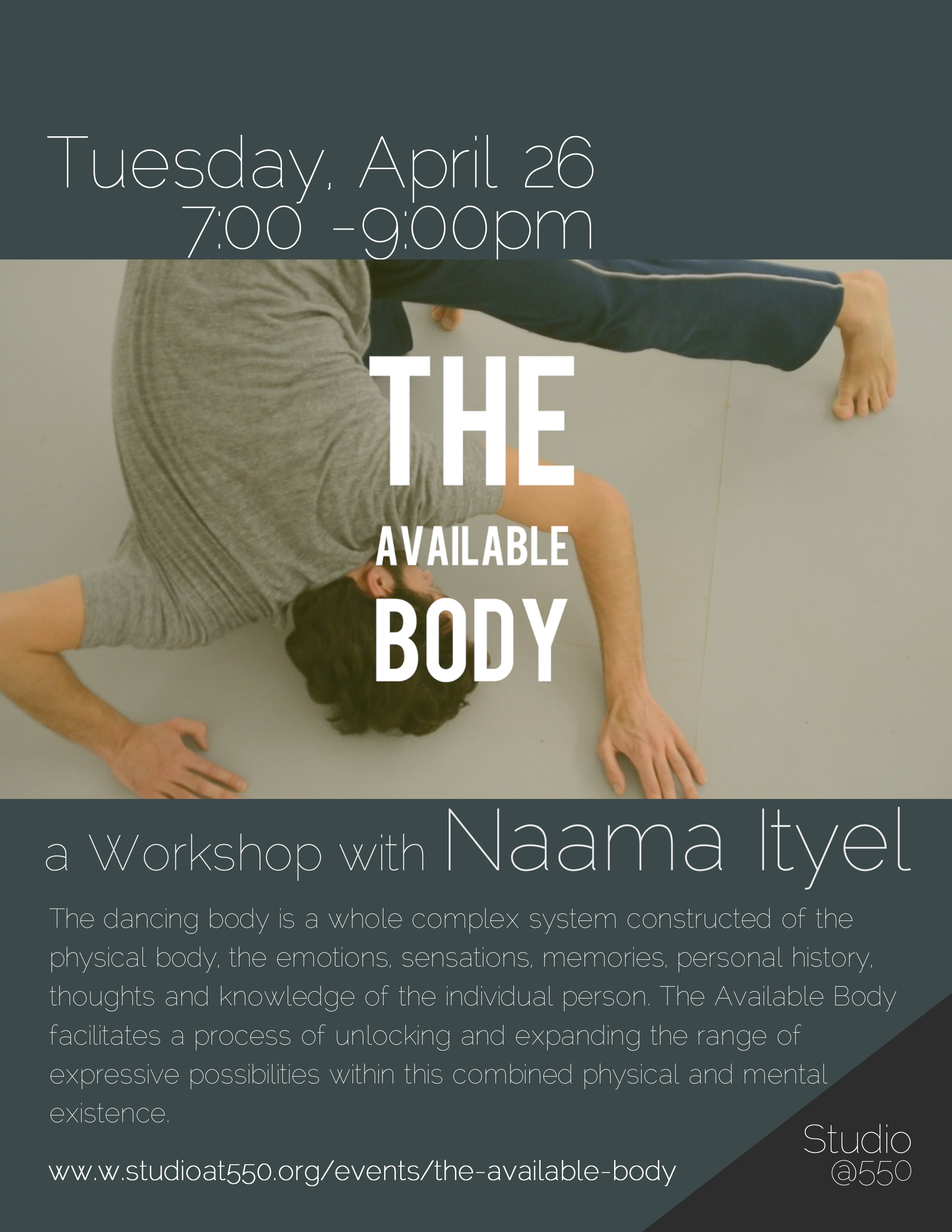 The Available Body / a Workshop with Naama Ityel