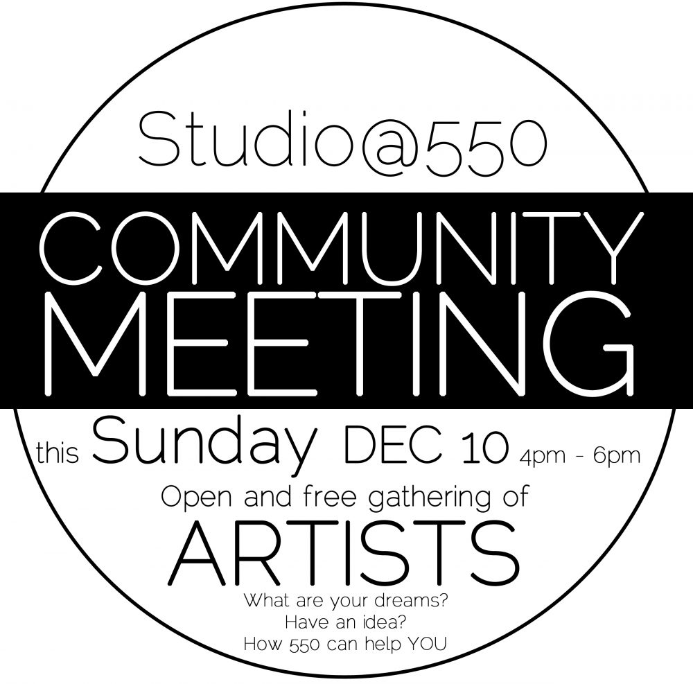 Community Meeting THIS Sunday 4-6pm