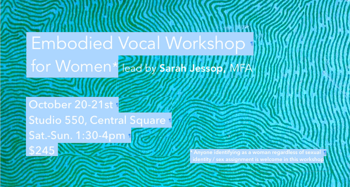 Embodied Vocal Workshop for Women