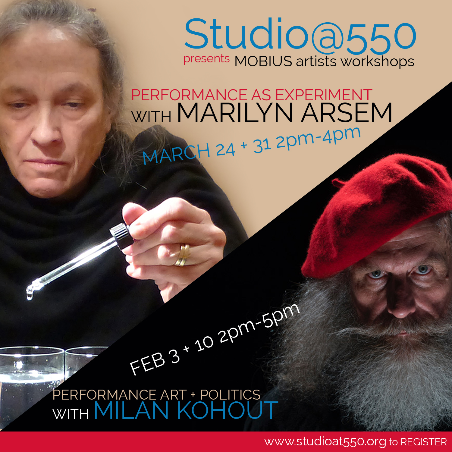 Performance as Experiment with Marilyn Arsem from MOBIUS 3/24+3/31 2019 Participants must attend both dates